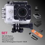 Sj5000 WiFi (White) - Micro SD Kingston 32GB+Battery+Charger+Monopod