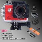 Sj5000 WiFi (Rad) - Micro SD Kingston 32GB+Battery+Charger+Monopod