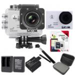Sj5000 WiFi (White) +Micro SD Kingston 32GB+Battery+Dual Charger+Monopod+Bag (Black)