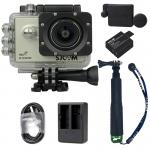 X1000 Silver +Extra Battery+Dual Charger+Protective Lens+TMC Selfie (Green)