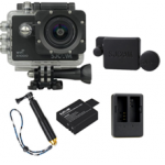 X1000 Black +Extra Battery+Dual Charger+Protective Lens+TMC Selfie (Gold)