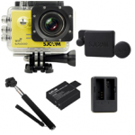 Sj5000 WiFi (Yellow)+(Battery+Dual charger+Protective Lans+Monopod Selfie)