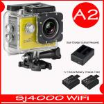 SJ4000 Wi-Fi (Yellow)+Battery+Dual Charger