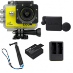 X1000 Yellow +Extra Battery+Dual Charger+Protective Lens+TMC Selfie (Blue)