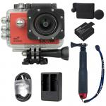 X1000 Red +Extra Battery+Dual Charger+Protective Lens+TMC Selfie (Red)