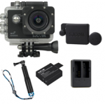 X1000 Black +Extra Battery+Dual Charger+Protective Lens+TMC Selfie (Blue)