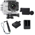 Sj5000 WiFi (White)+(Battery+Dual charger+Protective Lans+TMC Green)