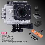 Sj5000 WiFi (Silver) - Micro SD Kingston 32GB+Battery+Charger+Monopod