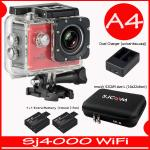 SJ4000 Wi-Fi (Red)+Battery+Dual Charger+BAG(L)