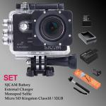 Sj5000 WiFi (Black) - Micro SD Kingston 32GB+Battery+Charger+Monopod