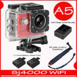 SJ4000 Wi-Fi (Red)+Battery+Dual Charger+TMC Selfie