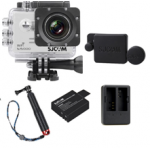 Sj5000 WiFi (White)+(Battery+Dual charger+Protective Lans+TMC Red)