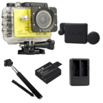 Sj5000X (Yellow) +(Battery+Dual charger+Protective Lans+Monopod Selfie)