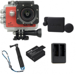 X1000 Red +Extra Battery+Dual Charger+Protective Lens+TMC Selfie (Blue)