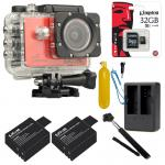 SJCAM SJ5000X Elite WiFi 4K (Battery +Dual-Charger+Monopod+ Kingston32) - Red