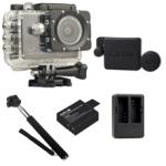 Sj5000X (Black) +(Battery+Dual charger+Protective Lans+Monopod Selfie)