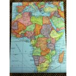 โปสเตอร์แผนที่โลก (ภาษาอังกฤษ)