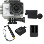 X1000 White +Extra Battery+Dual Charger+Protective Lens+TMC Selfie (Gold)