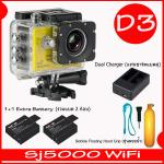 SJ5000X (Yellow)+ Battery + Dual Charger + Bobber