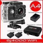 SJ4000 Wi-Fi (Black)+Battery+Dual Charger+BAG(L)