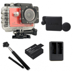 Sj5000X (Red) +(Battery+Dual charger+Protective Lans+Monopod Selfie)
