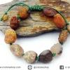 สร้อยข้อมือ อาเกตทะเลทรายโกบี เกรด A (Gobi Agate) 28g