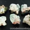 อะโพรพิไลท์สีเขียว Green Apophyllite 6 ชิ้น(21g)