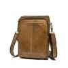 OP-2868 กระเป๋าหนังแท้ สะพายข้าง สีน้ำตาลเข้ม