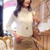 [พร้อมส่ง] เสื้อผ้าแฟชั่น เสื้อสตรีผ้า cotton สไตล์เกาหลี สวยเรียบหรู ตัดเย็บเนี้ยบ รหัส A51