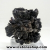 ▽ไคยาไนท์สีดำ Black Kyanite (23g) พร้อมฐานกระจก
