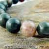 ▽สร้อยหิน หินเลือด (Blood stone) 8mm.