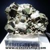 ผลึกกลุ่มไพไรต์ Pyrite เปรูแหล่งสวยสุดในโลก (56g)