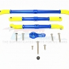 ALUMINIUM ADJUSTABLE STEERING LINKS (Yellow Ball Ends) WITH 25T SERVO HORN - 4PCS SET