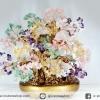 [โปรโมชั่น] ต้นไม้มงคล หิน 5 ชนิด ซิทริน, ควอตซ์,อเมทิสต์, โรสควอตซ์, อเวนจูรีน(สูง 33 cm)