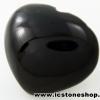 พลอยนิลทรงหัวใจ (Black Spinel) - 50.5ct.
