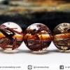 ▽สร้อยหิน ไหมนาค-Copper Rutillated Quartz (7.5mm.)