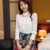 [พร้อมส่ง] เสื้อลูกไม้สีขาวเนื้อผ้าอย่างดีทั้งตัว ต่อช่วงแขนด้วยผ้าชีฟอง เหมาะสำหรับใส่ทุกโอกาส
