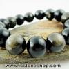 ▽สร้อยข้อมือ ออบซิเดียน (gold sheen obsidian) 14mm.