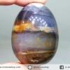 ▽อาเกตกับควอตซ์ (Rose Quartz) ทรงไข่ (81g)