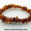 ▽สร้อยข้อมือ อำพันบอลติก (Cognac) Genuine Baltic Amber (10g)