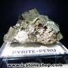 ผลึกกลุ่มไพไรต์ Pyrite เปรูแหล่งสวยสุดในโลก (85g)