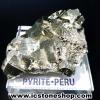 ผลึกกลุ่มไพไรต์ Pyrite เปรูแหล่งสวยสุดในโลก (75g)