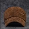 CG-6501 หมวกหนังกลับ สีน้ำตาล