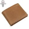 GT-8334 กระเป๋าสตางค์ผู้ชาย หนังนูบัค สีน้ำตาล
