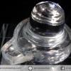 ควอตซ์ใสแกะรูปศิวลิงค์คัม พร้อมฐานกระจก (7.3g)