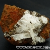 เฮมิมอร์ไฟต์ บนไลโมไนท์ (Hemimorphite on Limonite Matrix) จากเม็กซิโก (41g)