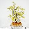 ต้นไม้มงคล ต้นไม้ หินเซอร์เพนไทน์ -ซิทริน ใช้เสริมฮวงจุ้ย โต๊ะทำงาน (300g)