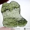 สะเก็ดดาวสีเขียว โมลดาไวท์ (Moldavite) 8.55ct.