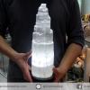 โคมไฟเซเลไนต์ Selenite ธรรมชาติทรงเจดีย์ (35cm.- 4.3Kg)