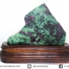 ▽แผ่นเอนิโอไลต์ Anyolite หรือซอยไซท์ Zoisite กับทับทิม Ruby (357g)